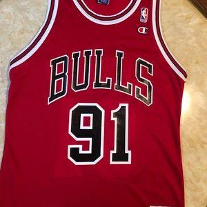 VTG Champion Chicago Bulls Rodman Jersey